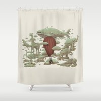 cloud Shower Curtains featuring Cloud Watching by Terry Fan