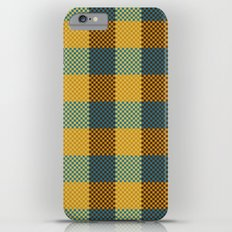 Pixel Plaid - Winter Walk iPhone 6 Plus Slim Case