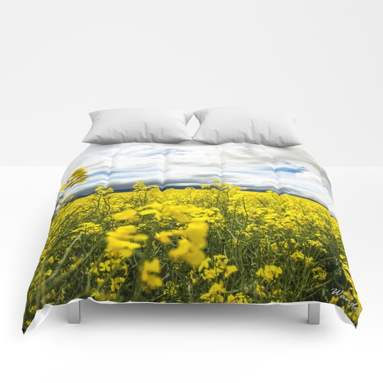 Fields of yellow Comforters