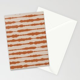 Macrame Stripes in Clay and Putty  Stationery Cards