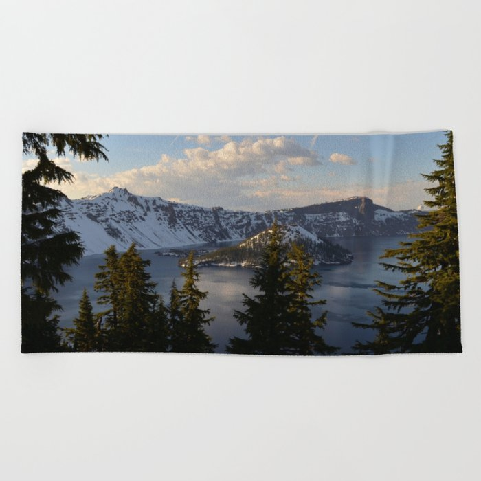 Crater Lake - Spring Beach Towel