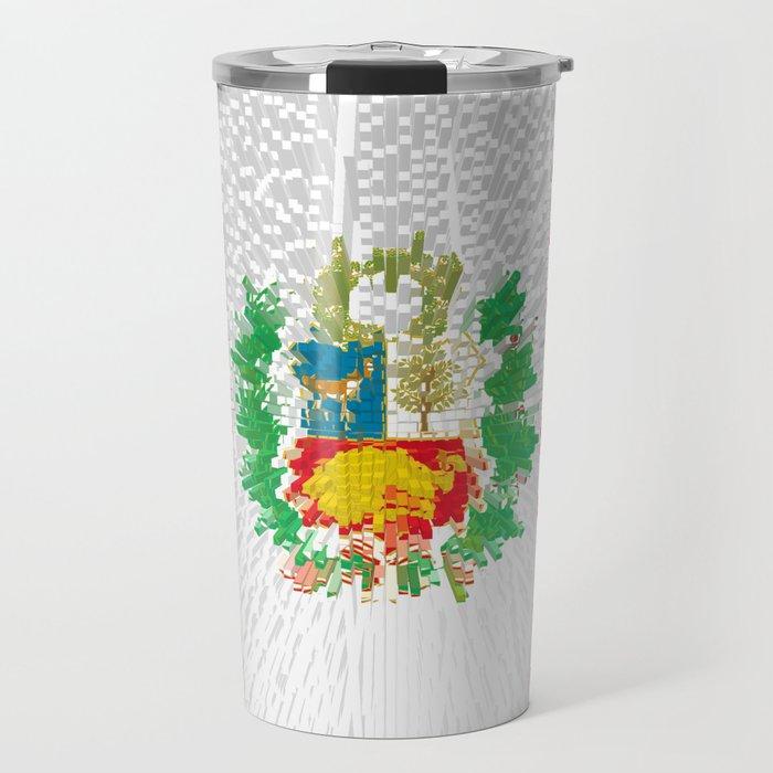 Extruded flag of Peru Travel Mug