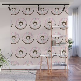 Pinky donuts Wall Mural