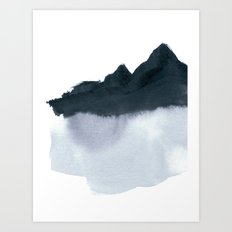 mountain scape minimal Art Print