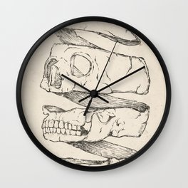 Twister Skull Wall Clock