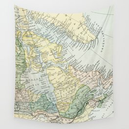 Vintage Map of The East Of Canada Wall Tapestry