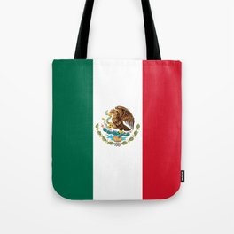 Mexican flag of Mexico Tote Bag