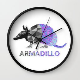 Angular Armadillo Wall Clock
