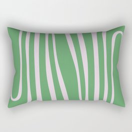 Green Algae Pond - Abstract Motif Rectangular Pillow