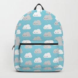 Happy and Sad Kawaii Clouds Backpack