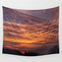 america Wall Tapestries featuring America by Countryfied Memories Photography