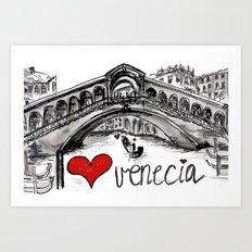 I love Venecia Art Print