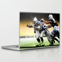 nfl Laptop & iPad Skins featuring American Football by Gilles Rathé