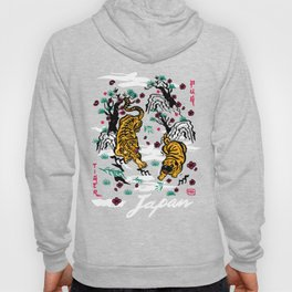 Tiger and Pug Japanese style Hoody