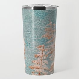 Golden trees on a cold day Travel Mug