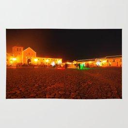 Villa de Leyva at night Rug