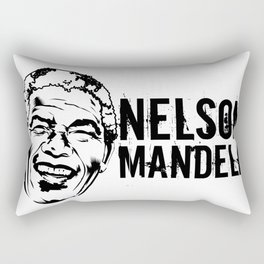 Nelson Mandela South African anti-apartheid revolutionary, political leader, and philanthropist Rectangular Pillow