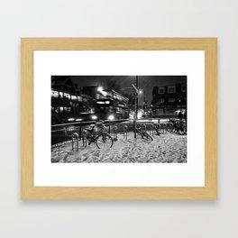 Turpike Lane Snow Day Framed Art Print