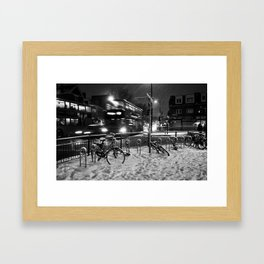 Turpike Lane Snow Day Framed Art Print