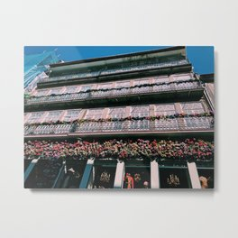 Floral Balcony Metal Print