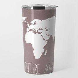 Adventure Awaits World Map Travel Mug