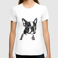 boston terrier T-shirts featuring Boston Terrier by DayLee Doodler