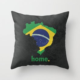 Brazil Proud Throw Pillow