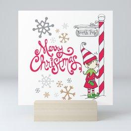 Merry Christmas Elf Mini Art Print