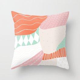 lena, patchwork quilt Throw Pillow