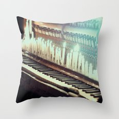 The sounds of ghosts Throw Pillow