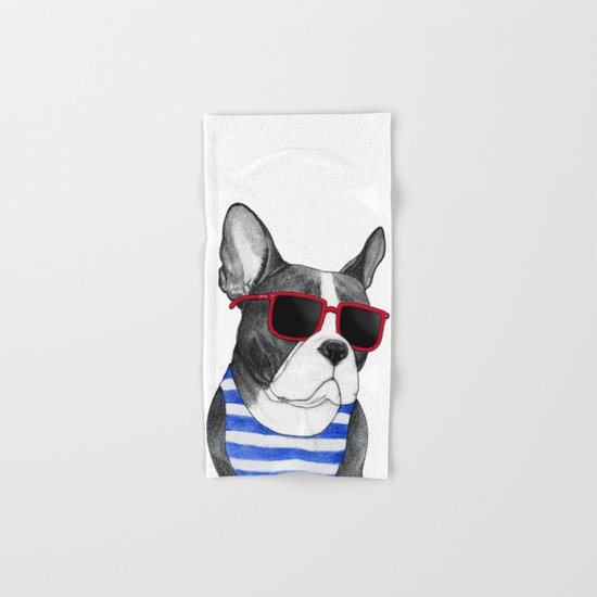 Frenchie Summer Style Hand & Bath Towel