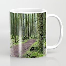 All covered with green moss magic forest Coffee Mug