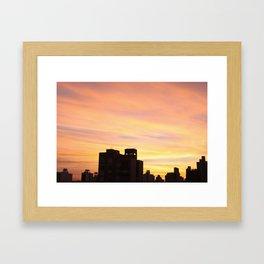 Orange sunset Framed Art Print
