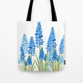 blue grape  hyacinth forest Tote Bag