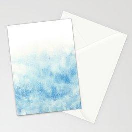 blue background (aquarelle) Stationery Cards