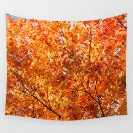 Autumn foliage Wall Tapestry