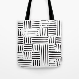 Weave in Black Tote Bag