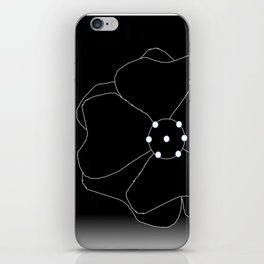 Lillies Considered In Pure Black and White iPhone Skin