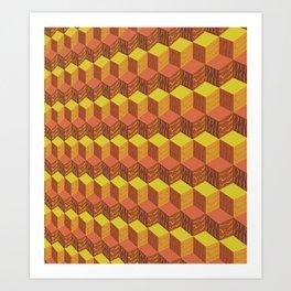 Bloqueo de bloques calido Art Print