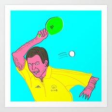 Table Tennis Mad Art Print