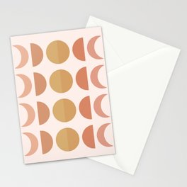 Cheerful  Moon Phases Stationery Cards