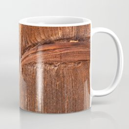vertical structure of spruce board Coffee Mug