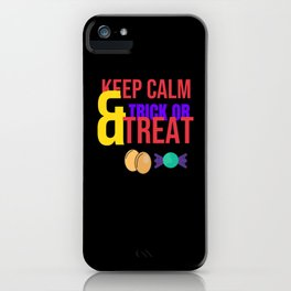 Halloween Party Costume Gift Trick And Treat iPhone Case