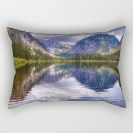 Misty Fiords Lake Rectangular Pillow
