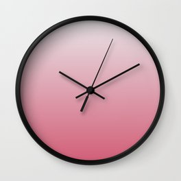 White to Pink Ombre Shaded Cherry and Coconut Sorbet Ice Cream Gelato Wall Clock