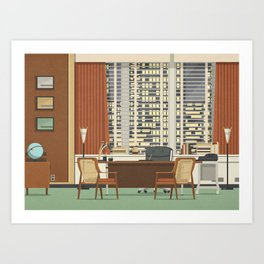 roger sterling office art. Mad Men Don Draper\u0027s Office Art Print Roger Sterling