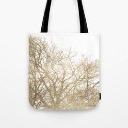 Elegant botanical gold foil tree  branch Tote Bag