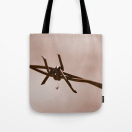 Spider on Barbed Wire Tote Bag