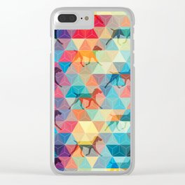WEIMARANER AND TRIANGLES Clear iPhone Case