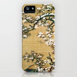 Malus halliana and white-eye - Digital Remastered Edition iPhone Case